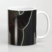 butt Mugs featuring Neon Butt by Von Guines