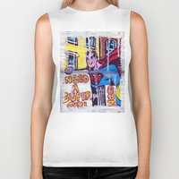 supergirl Biker Tanks featuring I Need a Supergirl by Ibbanez