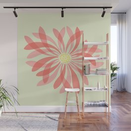 Sheer Petal Flower Wall Mural
