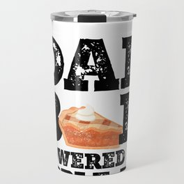 Dad Bod Powered By Apple Pie Father Figure Gifts Idea with Funny Graphic for Food Lovers Travel Mug