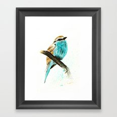 Watercolor bird Framed Art Print