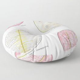 Microbiology: Plates Floor Pillow