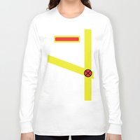 xmen Long Sleeve T-shirts featuring Cyclops - Minimalist - XMen by Adrian Mentus