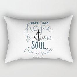 Hebrews 6:19 Rectangular Pillow
