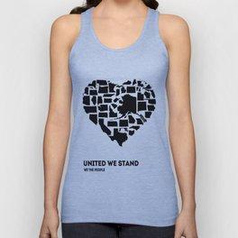 United We Stand - Black & White Unisex Tank Top