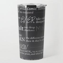 The 10 Commandments for Graphic Designers Travel Mug