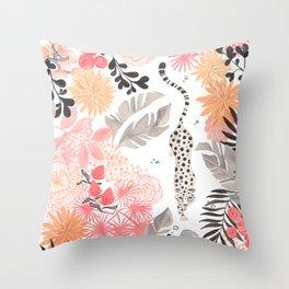 Stalking Leopard Throw Pillow