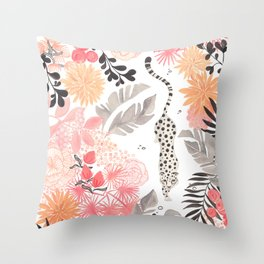 Stalking Leopard Throw Pillow