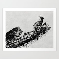Intense Chasing Art Print