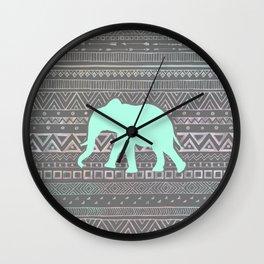Mint Elephant  Wall Clock