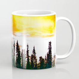 Summer Sun Almost Sets in Alaska Coffee Mug
