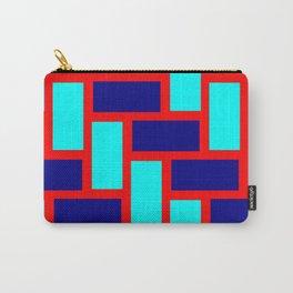 light blue dark blue tile pattern Carry-All Pouch