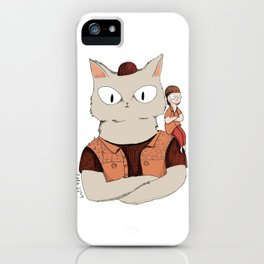 Walter the metal cat iPhone Case