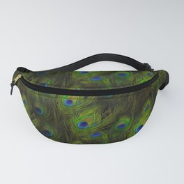 Peacock Feather Plummage Fanny Pack
