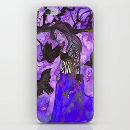 Raven Witch - Dark Violet iPhone Skin