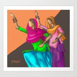 Punjabi girls Giddah Art Print