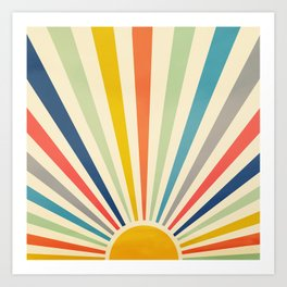Sun Retro Art III Art Print