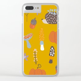 Fall Critters Clear iPhone Case