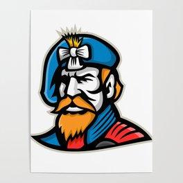 Highlander Mascot Poster