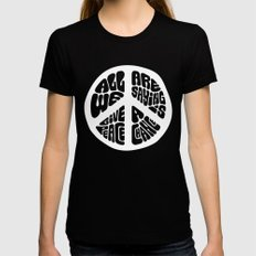 Peace X-LARGE Black Womens Fitted Tee