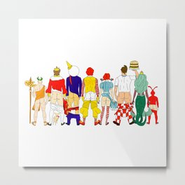 Fast Food Butts Mascots Metal Print