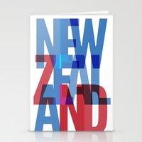 new zealand Stationery Cards featuring New Zealand by Feb Studios