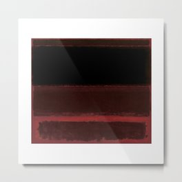 1958 Four Darks on Red by Mark Rothko Metal Print