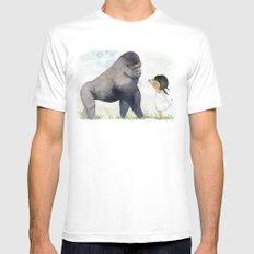 Hug me , Mr. Gorilla MEDIUM White Mens Fitted Tee
