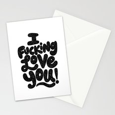 I f'ing love you Stationery Cards