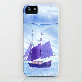 Sailing in Winter iPhone Case