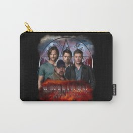 Supernatural Family dont end with blood 4 Carry-All Pouch