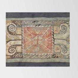 Kaitag 18th Century Caucasian Embroidery Print Throw Blanket