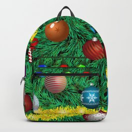 65 MCMLXV Christmas Tree Sweater Pattern Backpack