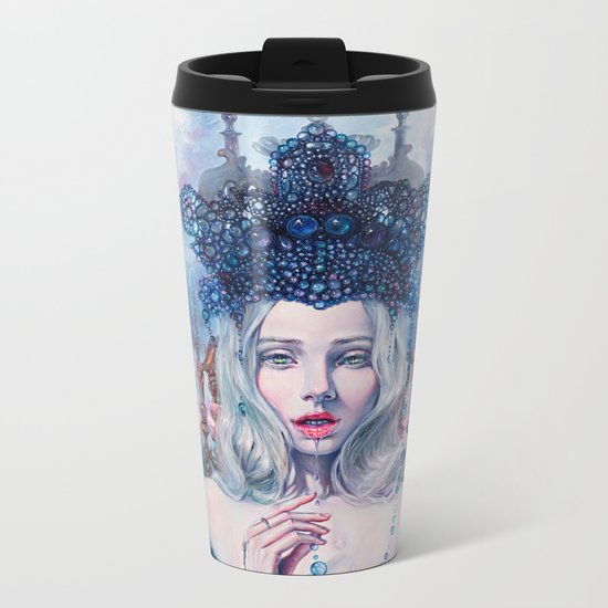 Self-Crowned Metal Travel Mug