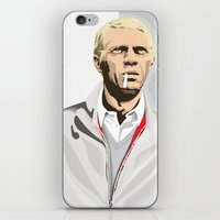steve mcqueen iPhone & iPod Skins featuring Steve McQueen by Studio Drawgood
