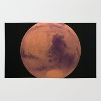 mars Area & Throw Rugs featuring Mars by Tobias Bowman