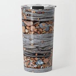 Wood And Pebbles Travel Mug