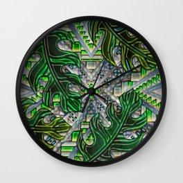 Botanical Boho Pattern Wall Clock