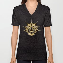 Gold Frog Ink Unisex V-Neck