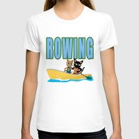 rowing T-shirts featuring Rowing by BATKEI