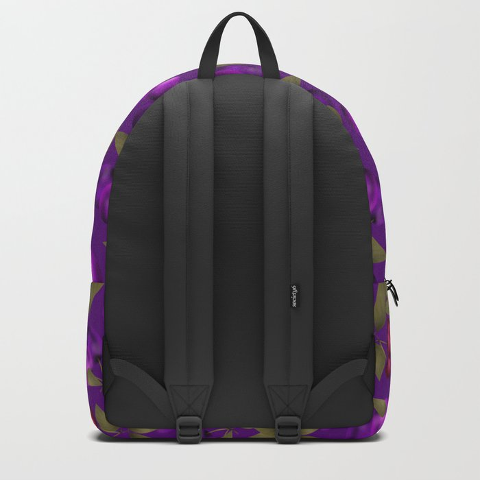 Fruit market . Plum and cherry . Backpack
