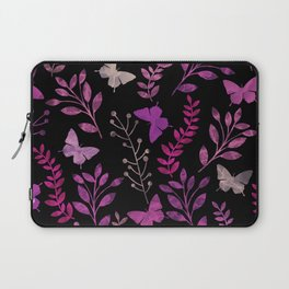 Watercolor flowers & butterflies III Laptop Sleeve