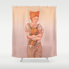 The Lady who wouldn't grow up Shower Curtain