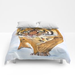 Walking Tiger Comforters