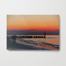 Time for Romance by the Northsea in the Netherlands Metal Print