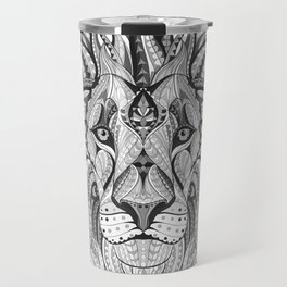 Ethnic Tribal Lion Doodle 04 Travel Mug