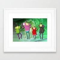 katamari Framed Art Prints featuring Katamari Cousins Set by cakeisforrobots