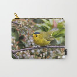 Cute Wilson's Warbler on the Grapevine Carry-All Pouch