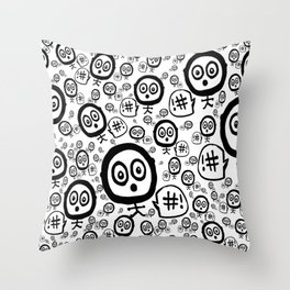 Relativity Stick Figure Throw Pillow