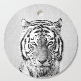 Tiger - Black & White Cutting Board